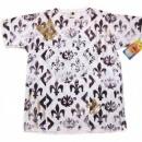 LA AIR LINE Fleur de Lyes White T Shirt