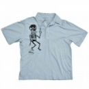 LA AIR LINE Germs Boogie Down Light Blue Polo Shirt