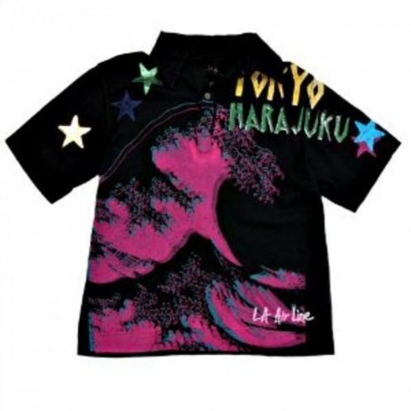 LA AIR LINE Tokyo Pop Mundo Polo T-Shirt