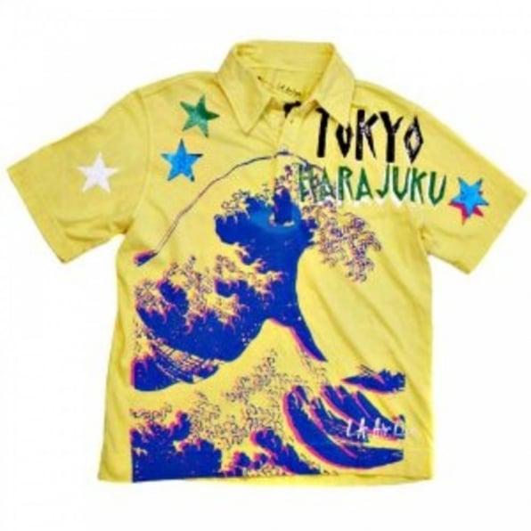 LA AIR LINE Yellow Polo Shirt Tokyo Pop Mundo
