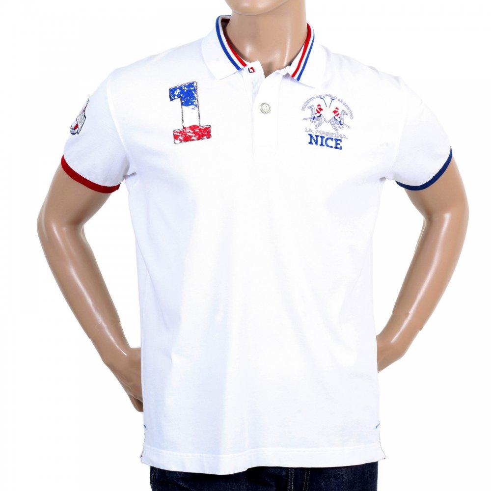 37bcef6a6 ... LA MARTINA Mens Optic White Slim Fit Short Sleeve Cotton Polo Shirt ...