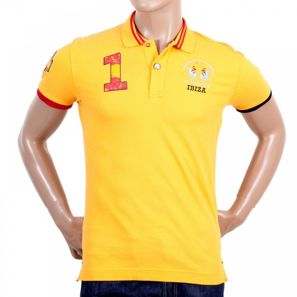Buy daffodil yellow polo shirts by la martina clothing for Mens slim polo shirts