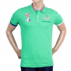 Mens Stretch Pique Cotton Comfort Short Sleeve Slim Fit Polo Shirt