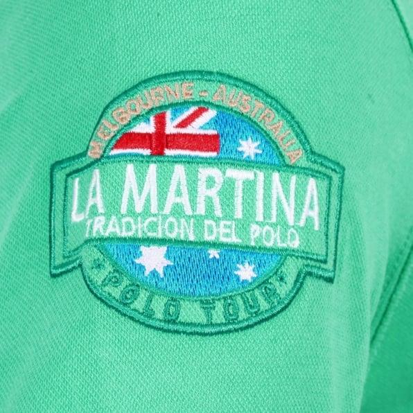 LA MARTINA Mens Stretch Pique Cotton Comfort Short Sleeve Slim Fit Polo Shirt