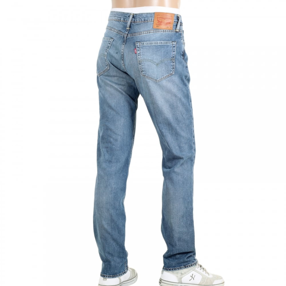 22fb5425561 LEVIS 511 Slim Fit Lower Waist Light Blue Iron Harbour Jeans with Fading  and Whiskering