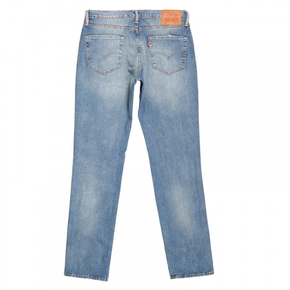 shop for washed light blue levis 511 slim fit jeans. Black Bedroom Furniture Sets. Home Design Ideas