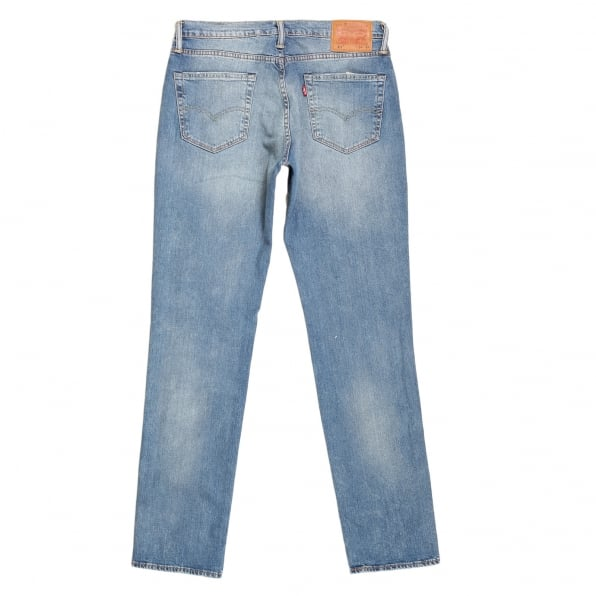 LEVIS 511 Slim Fit Lower Waist Light Blue Iron Harbour Jeans with Fading and Whiskering
