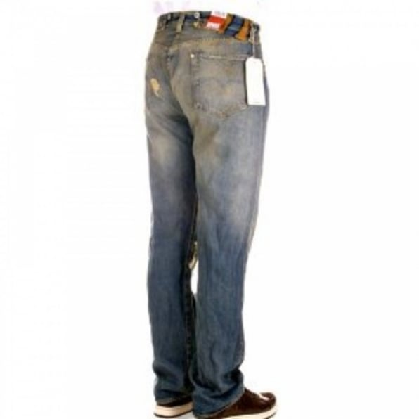 LEVIS Limited Edition Oil Stained Torn Distressed Vintage mens jeans
