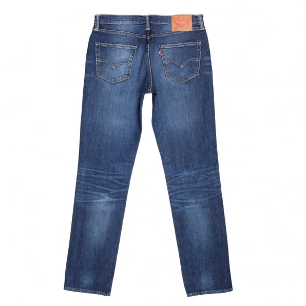 LEVIS Lower Waist Iron Brutus 511 Slim Fit Jeans in Mid Blue with Fading and Whiskering