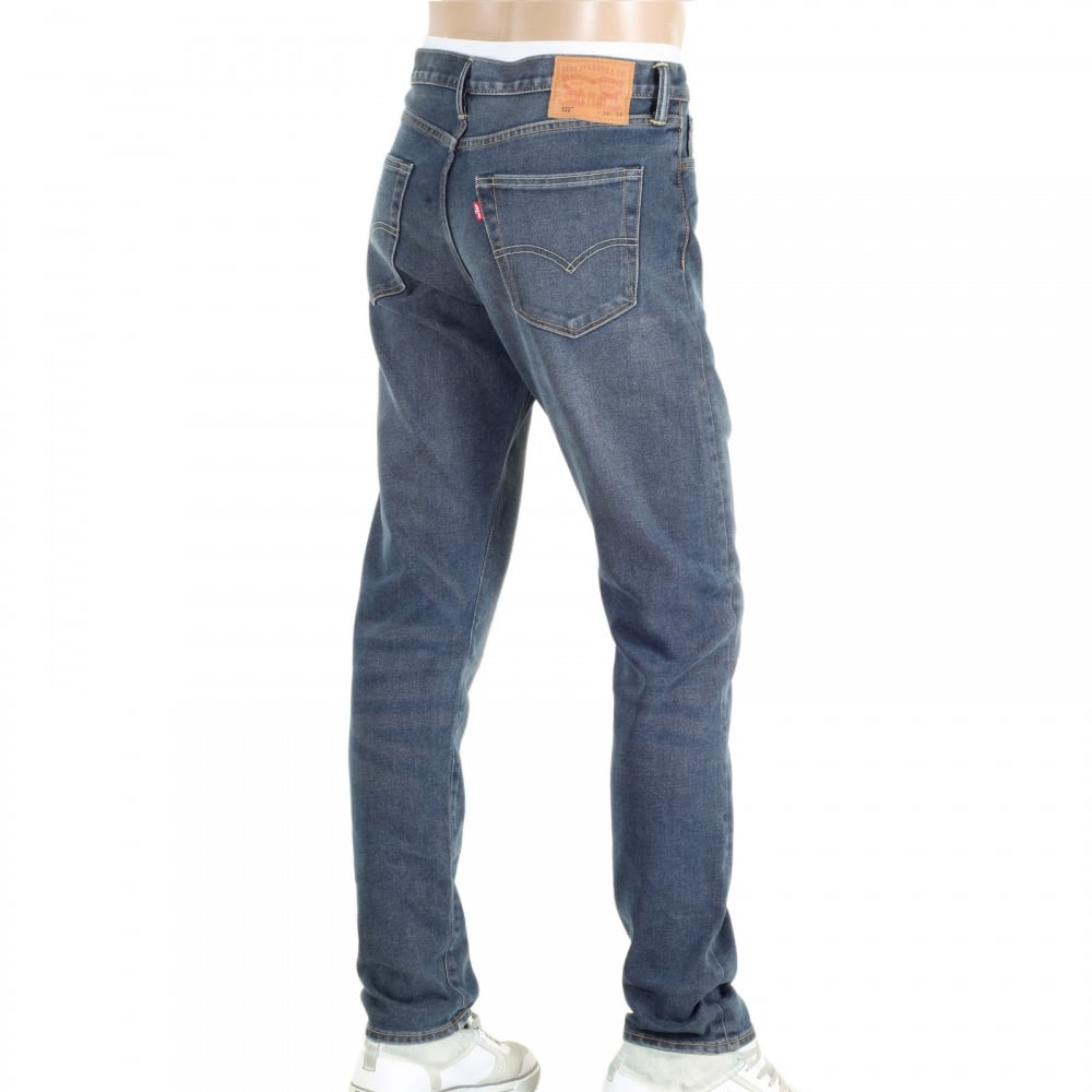 LEVIS Lower Waist Slim Tapered Fit 522 Littlefield Jeans with Bar Tacked at  Stress Points ...