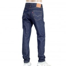 Mens Custom Tapered Fit 501 Celebration Jeans in Blue with Rinsed Finish