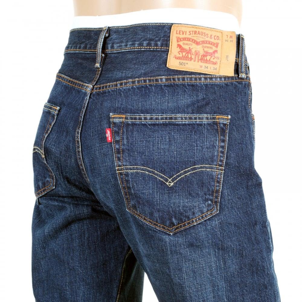 buy levis 501 dark blue denim jeans with original fit. Black Bedroom Furniture Sets. Home Design Ideas
