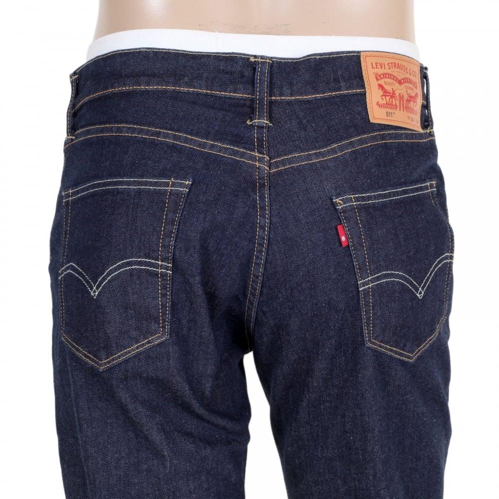 shop for 511 levis low waist jeans in dark blue at niro. Black Bedroom Furniture Sets. Home Design Ideas