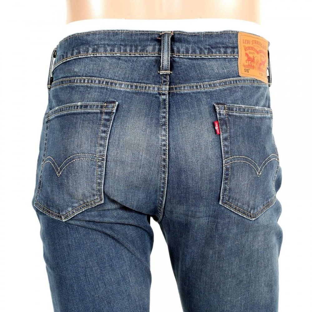 shop for worn vintage style levis 510 skinny fit jeans. Black Bedroom Furniture Sets. Home Design Ideas