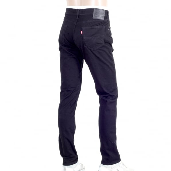 LEVIS Washed Black Stretch Cotton 511 Slim Fit lower waist Moonshine Jeans with Zip Fly