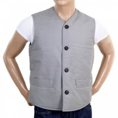 Light Blue Vintage Cut Regular Fit Lightly Padded Waistcoat