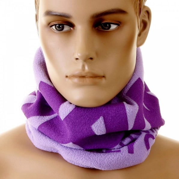 RMC MKWS Light Purple Neck Warmer Reversible Snood for Men
