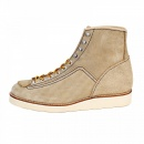 LONE WOLF Mens Beige Suede Goodyear welted Lace Up Hunter Boots with Removable Mud Guard F01616