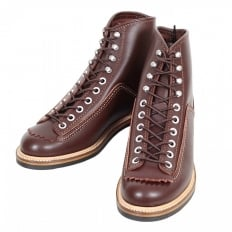 Mens Brown Cow Hide Leather Goodyear Welted Smooth Matt Finish Lace Up Carpenter Boots F01615