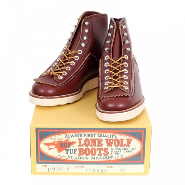 LONE WOLF Mens Brown US Oiled Cowhide Leather Goodyear welted Lace Up Hunter Boots with Removable Mud Guard F01616