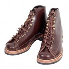 Wireman Mens Brown Cow Hide Leather Goodyear Welted Lace Up Work Boots with Non Slip Twin Grip Rubber Soles LW01785