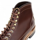 LONE WOLF Wireman Mens Brown Cow Hide Leather Goodyear Welted Lace Up Work Boots with Non Slip Twin Grip Rubber Soles LW01785