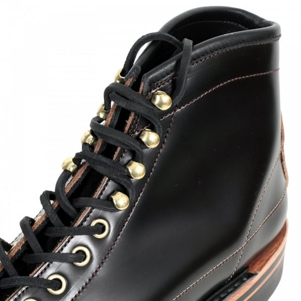 LONE WOLF Wireman Mens Lace Up Goodyear Welted Black Cow Hide Leather Work Boots with Non Slip Twin Grip Rubber Soles LW01785