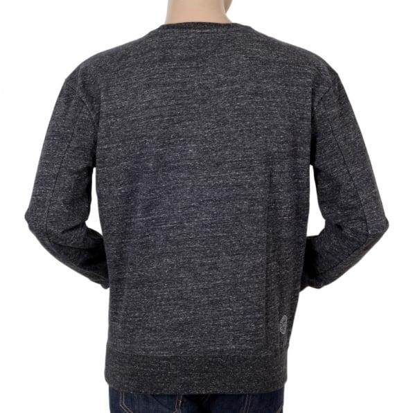 SCOTCH & SODA Marl Grey Anti Fit Crew Neck Long Sleeve Sweatshirt from Scotch & Soda with Flock Printed Front SCOT5595