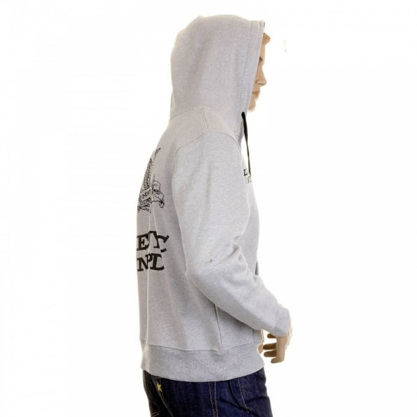 RMC MKWS Marl Grey NYPD Hooded Zipped Regular Fit Sweatshirt