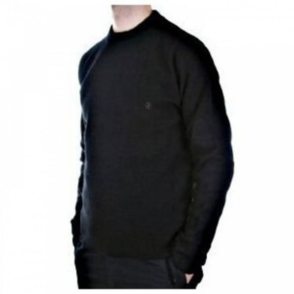 MASSIMO OSTI Black Crew Neck Long Sleeve Knitwear