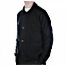 MASSIMO OSTI Black, Regular Fit, Button through High Neck, Knitted Cardigan Jacket