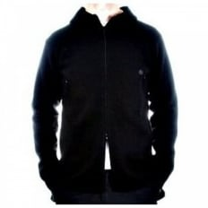 Black Regular Fit Hooded Long Sleeve Knitwear