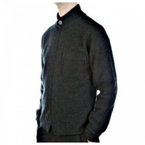 MASSIMO OSTI Melange Grey Zip through Long Sleeve Knitted Jacket