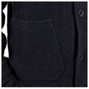 MASSIMO OSTI Navy Regular Fit Button through High Neck Knitted Cardigan Jacket