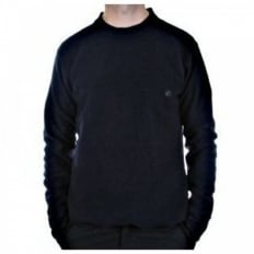 Navy Regular Fit Crew Neck Long Sleeve Knitwear