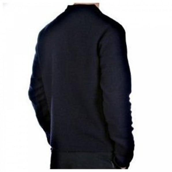 MASSIMO OSTI Navy Regular Fit Crew Neck Long Sleeve Knitwear
