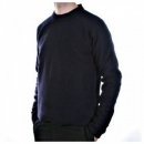MASSIMO OSTI Navy Regular Fit Crew Neck Long Sleeve Knitwear