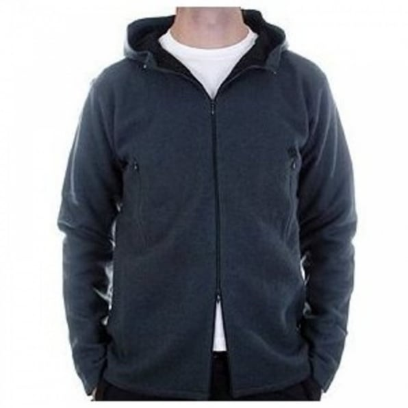 MASSIMO OSTI Oil Blue, Regular Fit, Two Way Zip, High Neck, Hooded Knitwear