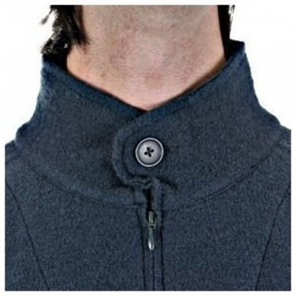 MASSIMO OSTI Oil Blue Regular Fit Zip through Long Sleeve Knitted Jacket