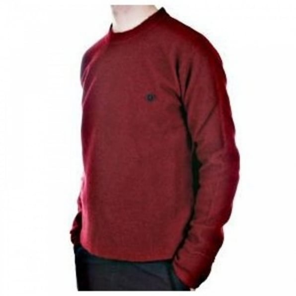 MASSIMO OSTI Red Regular Fit Crew Neck Long Sleeve Knitwear