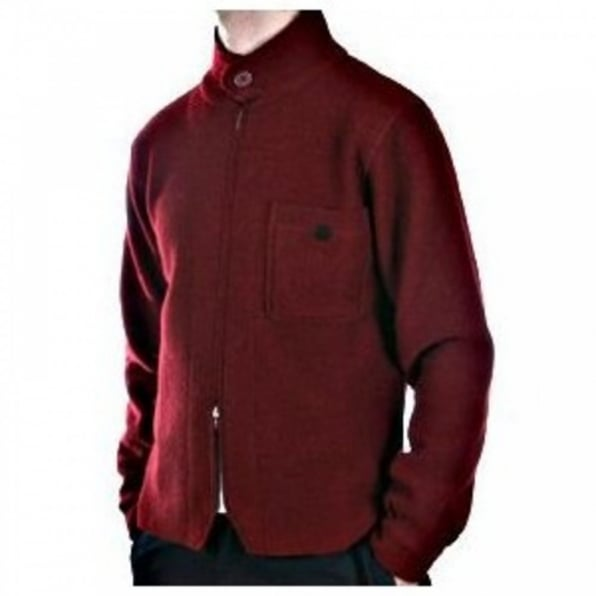MASSIMO OSTI Red Zip through Long Sleeve Knitted Jacket