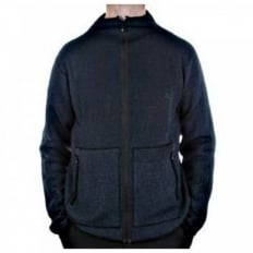 Reversible Black/Navy Zip up Knitwear Jacket
