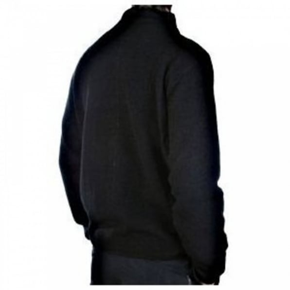 MASSIMO OSTI Reversible Black/Navy Zip up Knitwear Jacket