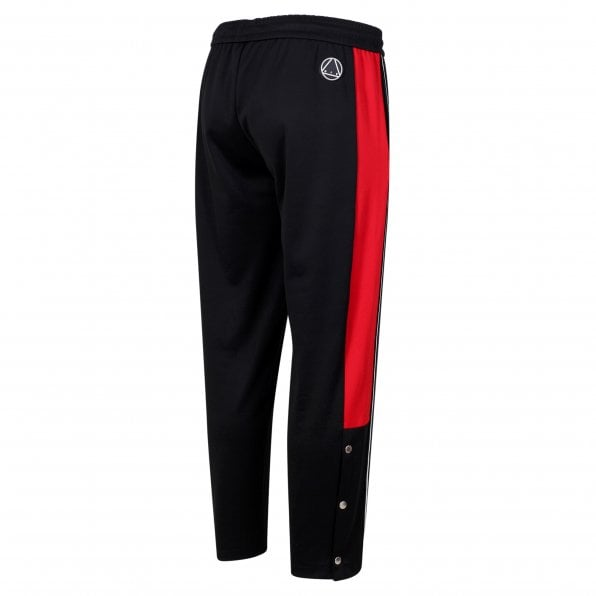 McQ ALEXANDER McQUEEN MCQ Black and Red Taped Panel Mens Track Bottoms
