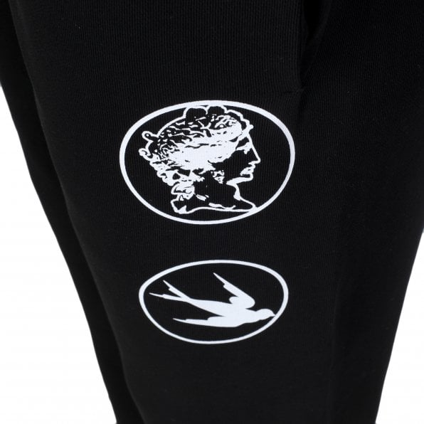 McQ ALEXANDER McQUEEN MCQ Black Mens All Logos Track Bottoms