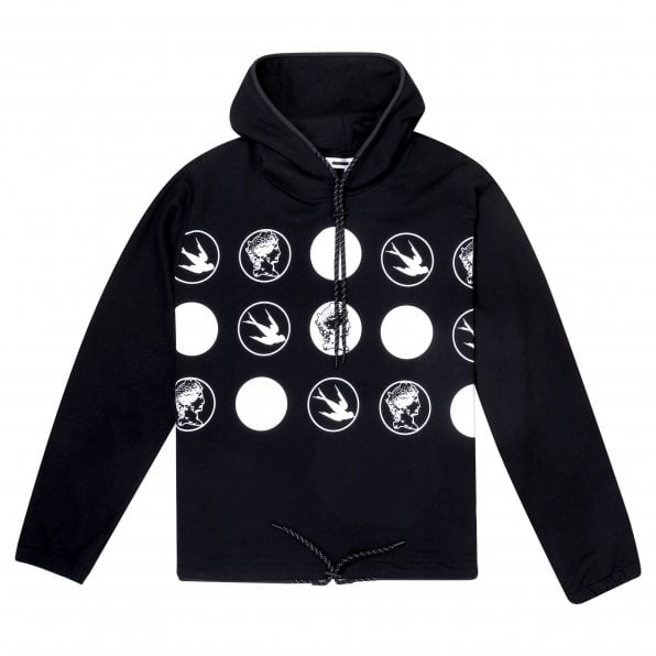 McQ ALEXANDER McQUEEN MCQ Mens All White Logos Black Hoody