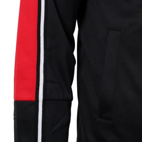 McQ ALEXANDER McQUEEN MCQ Mens Black and Red Taped Drawstring Track Jacket