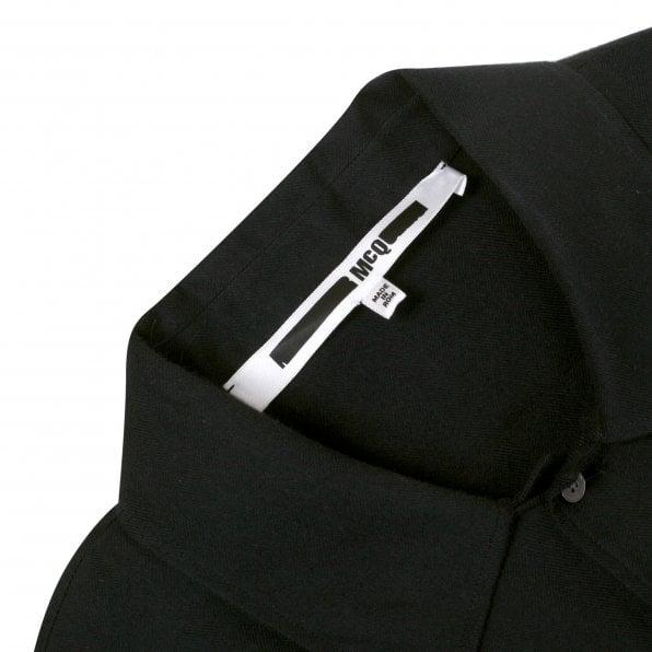McQ ALEXANDER McQUEEN MCQ Mens Black Back Angel Long Sleeve Over Shirt