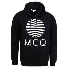 MCQ Mens Black Logo Hoody