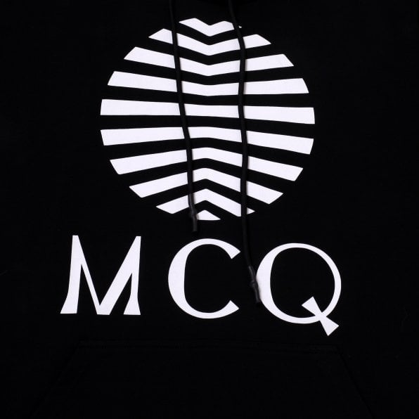 McQ ALEXANDER McQUEEN MCQ Mens Black Logo Hoody